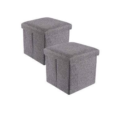 YCOCO Square Ottomans (2-Pack)