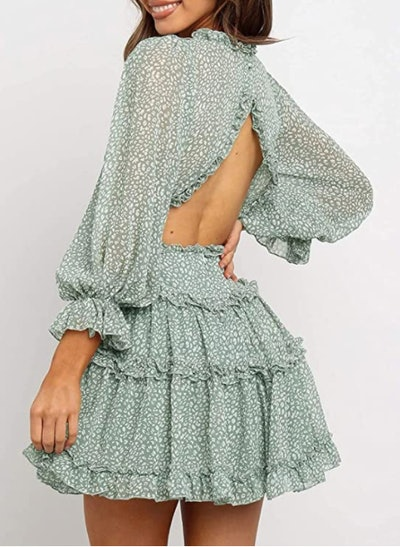 Dokotoo Long Sleeve Floral Print Mini Dress