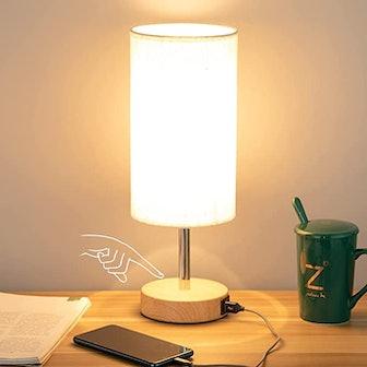 Yarra-Decor Bedside Lamp with USB port