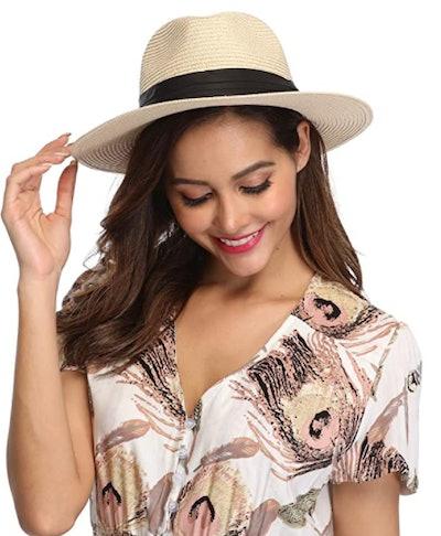Lanzom Straw Sun Hat