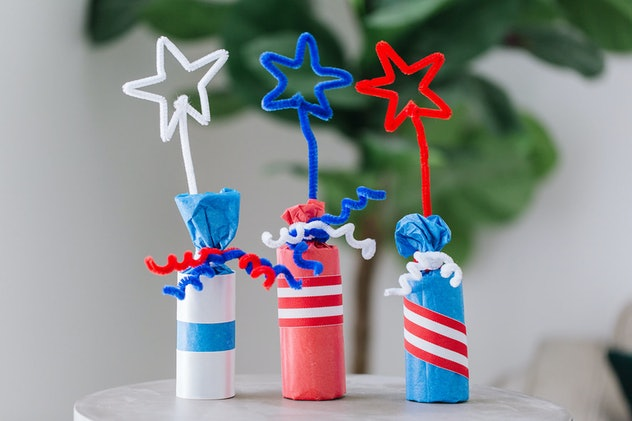 Firecracker candy poppers are a fun 4th of July craft to make with kids.