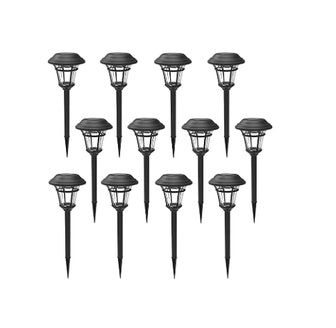 MAGGIFT Outdoor Solar Garden Lights (12-Pack)