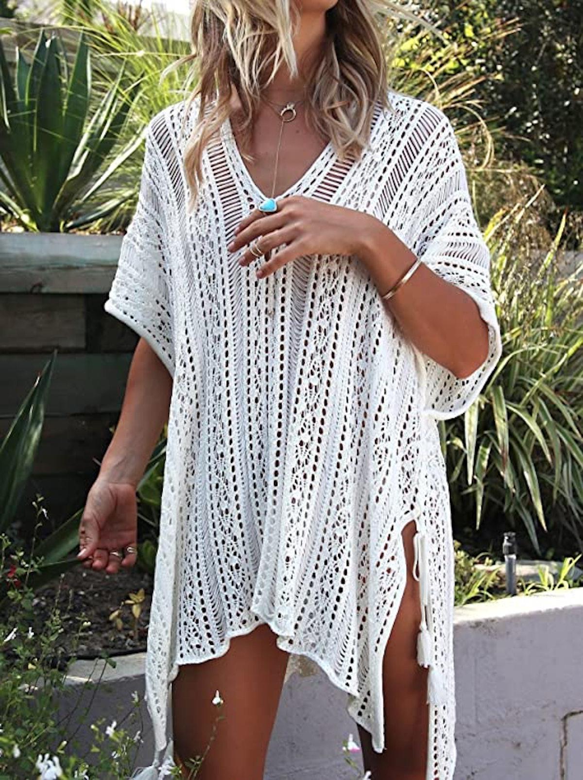 Jeasona Bathing Suit Crochet Dress Cover Up