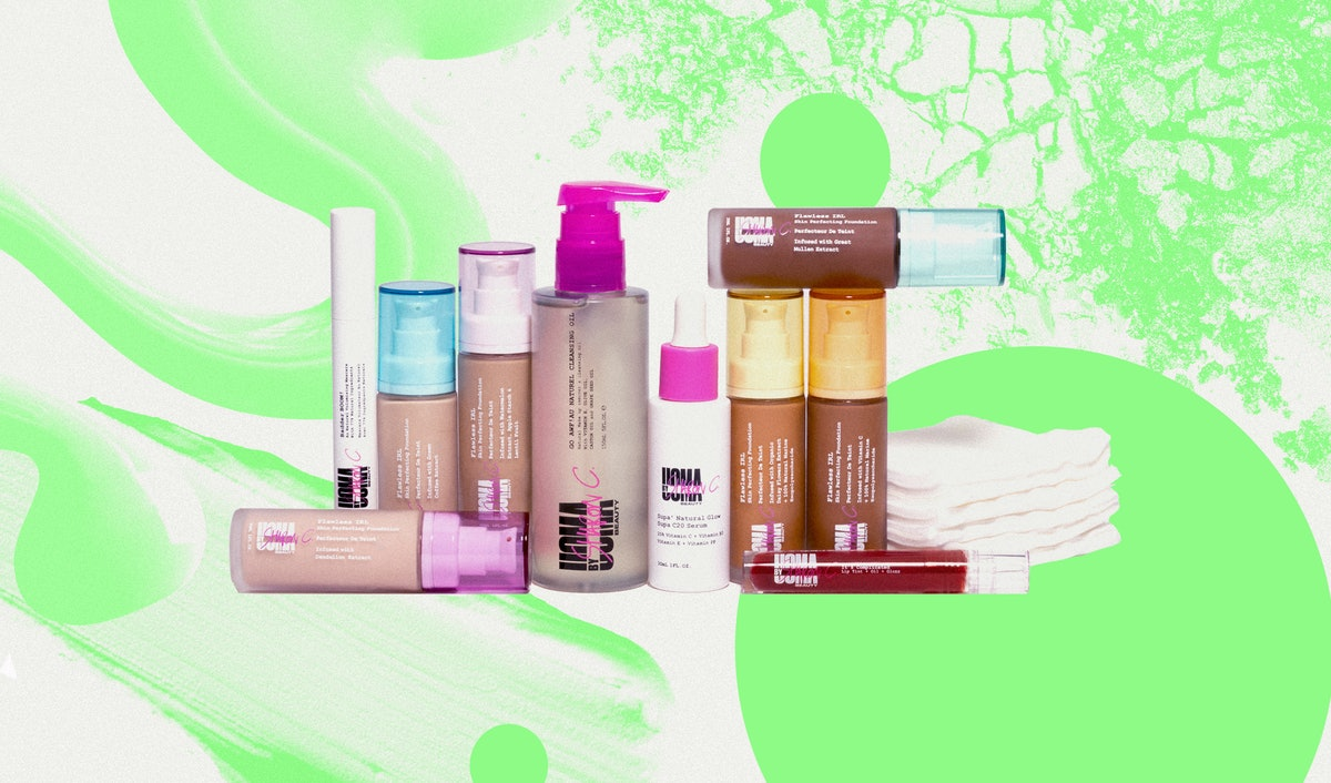 A product shot of the complete product lineup for Uoma by Sharon C.