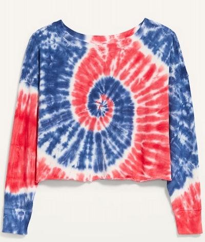 Oversized Americana Tie-Dye Sweatshirt