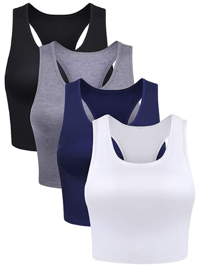 Boao Crop Tank Tops (4 Pack)