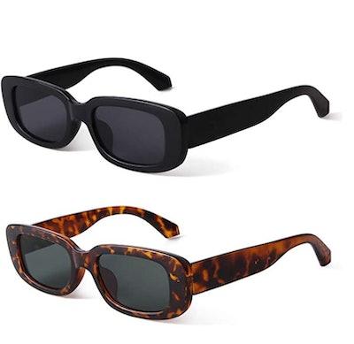BUTABY Rectangle Sunglasses UV400 Protection
