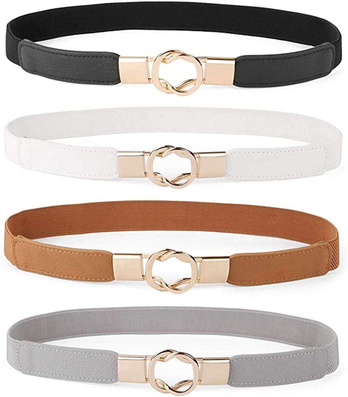 WERFORU Plus Size Skinny Waist Belt (Set of 4)