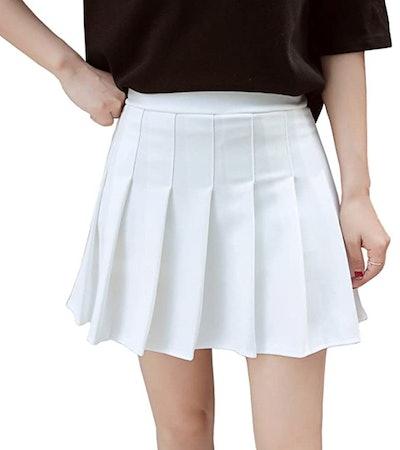 Hoerev High-Waisted Pleated Skirt