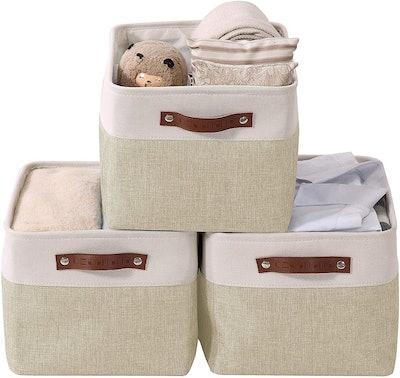 DECOMOMO Foldable Storage Bins (Set of 3)