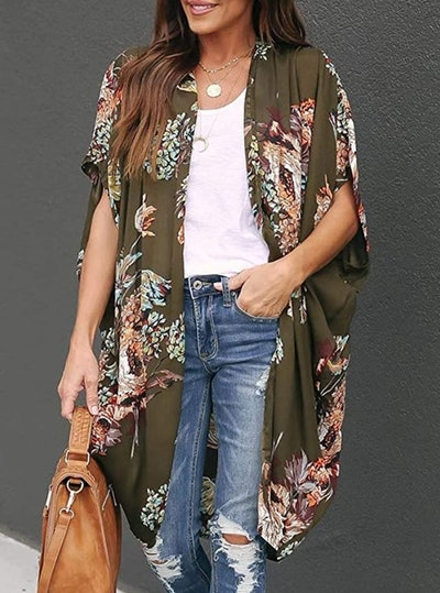 Ivay Womens Floral Duster