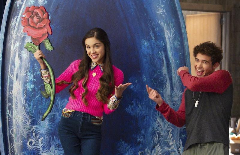 Olivia Rodrigo and Joshua Bassett in HSMTMTS.