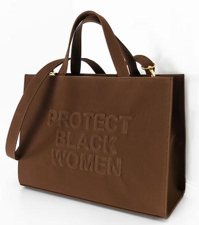 """PBW """"Protect Black Women"""" Vegan Suede Bag in Coffee"""