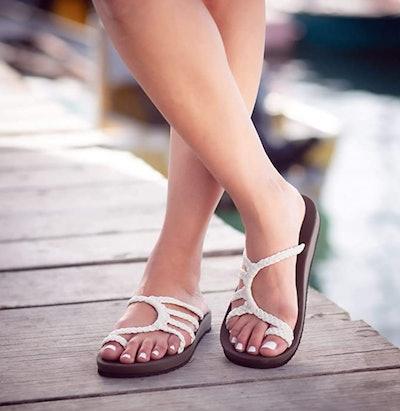 Plaka Relief Flip Flops