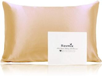 Ravmix 100% Silk Pillowcase for Hair and Skin
