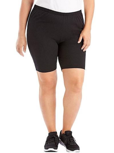 JUST MY SIZE Stretch Cotton Jersey Bike Shorts
