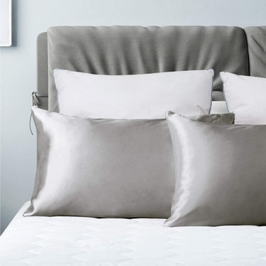 Bedsure Satin Pillowcase for Hair and Skin (2 Pack)
