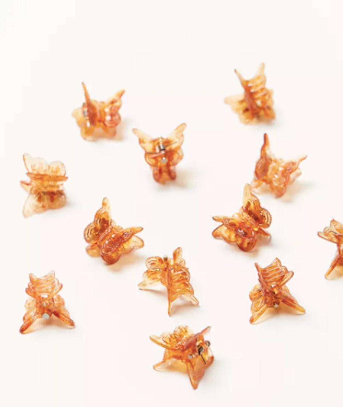 Urban Renewal Vintage Amber Butterfly Clip Set