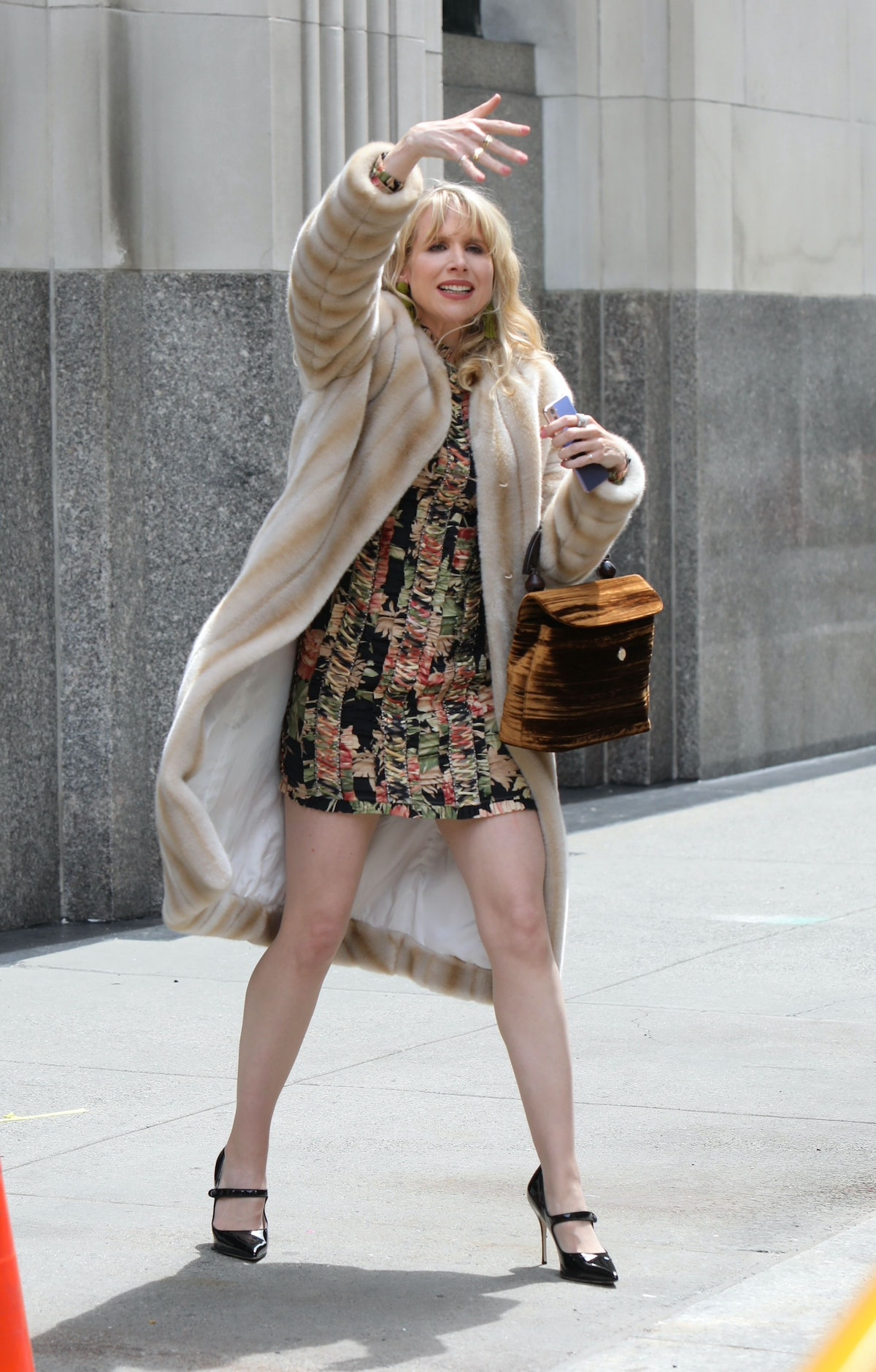 Lucy Punch on the set of Gossip Girl