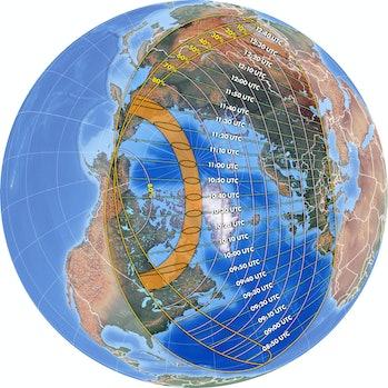 2021 annular solar eclipse map