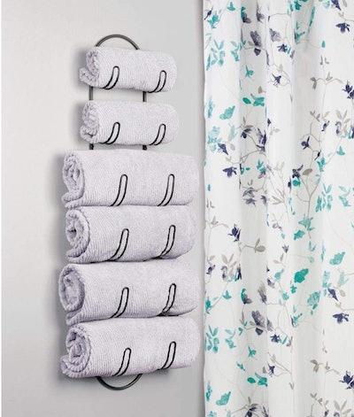 mDesign Wall Mount Towel Storage
