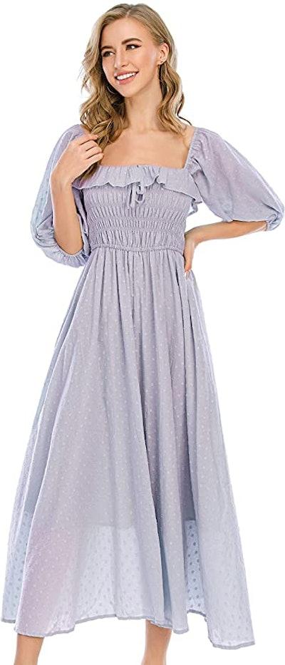 R.Vivimos Ruffled A Line Maxi Dress