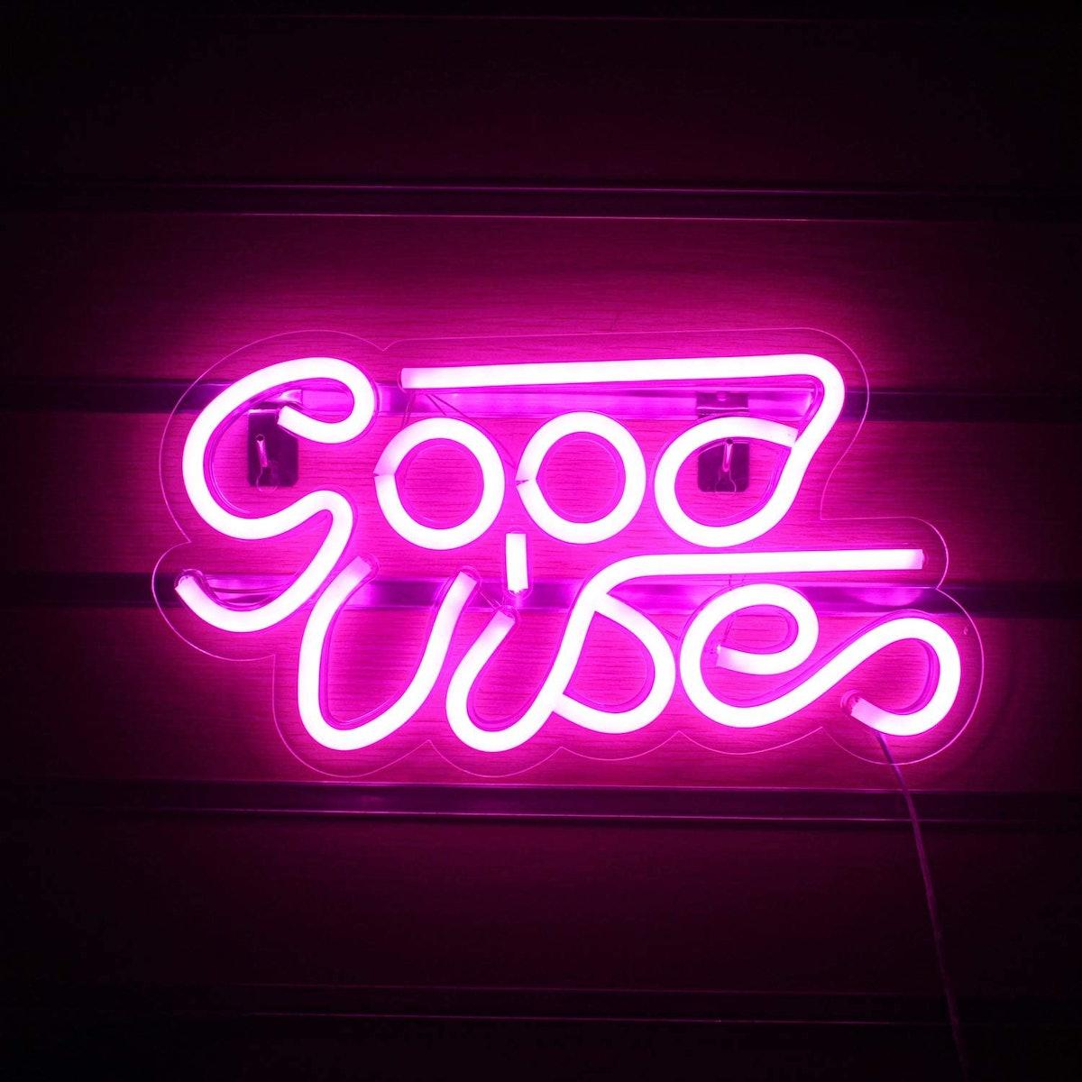 LUCUNSTAR Good Vibes Neon Sign
