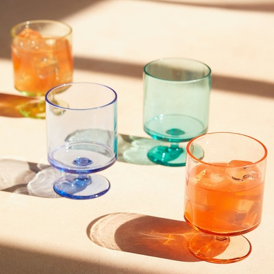 Rainbow Acrylic Stemmed Tumblers (Set of 4)
