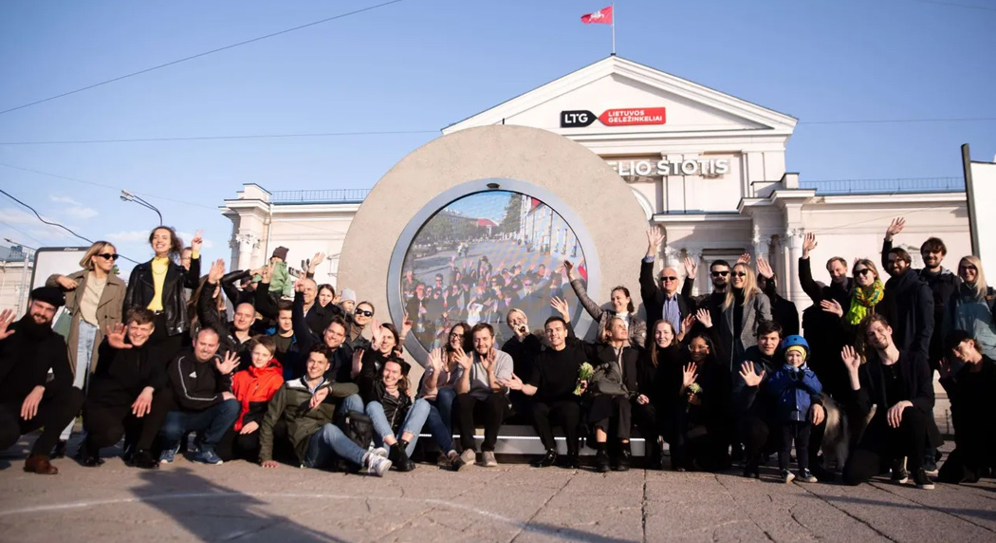 Engineers gather at the portal in Vilnius