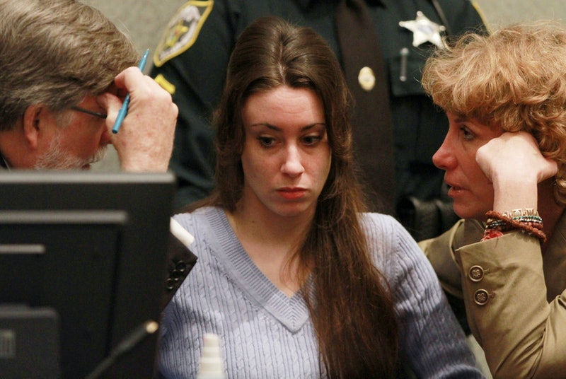 Casey Anthony sits in court during her murder trial.