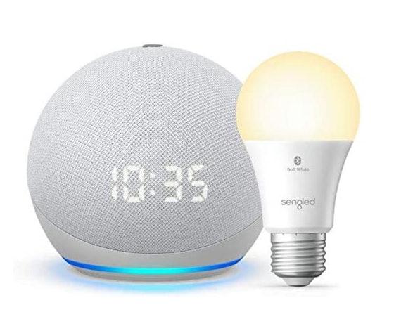 Echo Dot 4 Gen (Plus Free Smart Bulb)