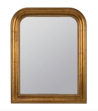 Mason Wall Mirror, Antiqued Gold