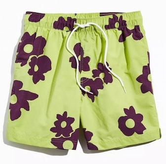 Daisy Print Swim Short
