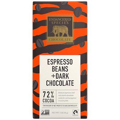 Endangered Species Espresso Beans & Dark Chocolate Bars