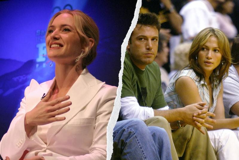 Kate Winslet, Ben Affleck, and Jennifer Lopez.