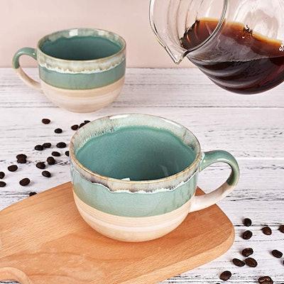 Bosmarlin Stoneware Coffee Mugs (Set of 2)