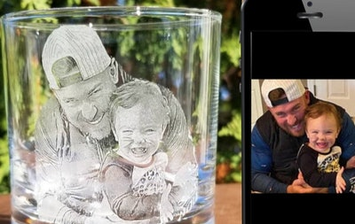 CuttingEdgeBoston Father's Day Etched Whiskey Glass
