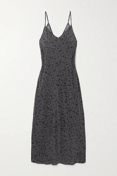 Arkanum Leopard-Print Midi Dress