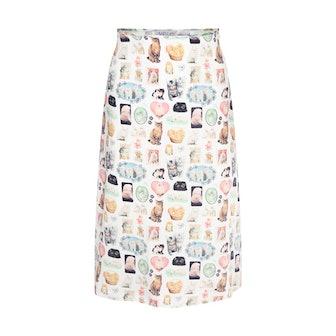 Cats Slip Skirt