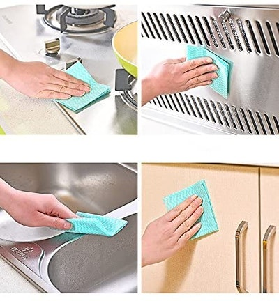 JEBBLAS Reusable Cleaning Towels (60 Sheets, 5-Pack)