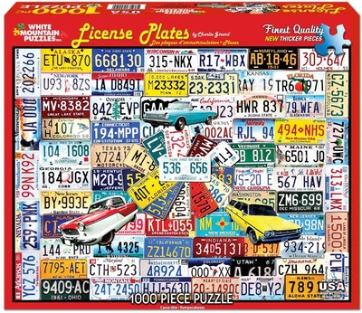 White Mountain License Plate Puzzle