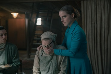 Madeline Brewer as Janine and Mckenna Grace as Esther Keyes in 'The Handmaid's Tale'