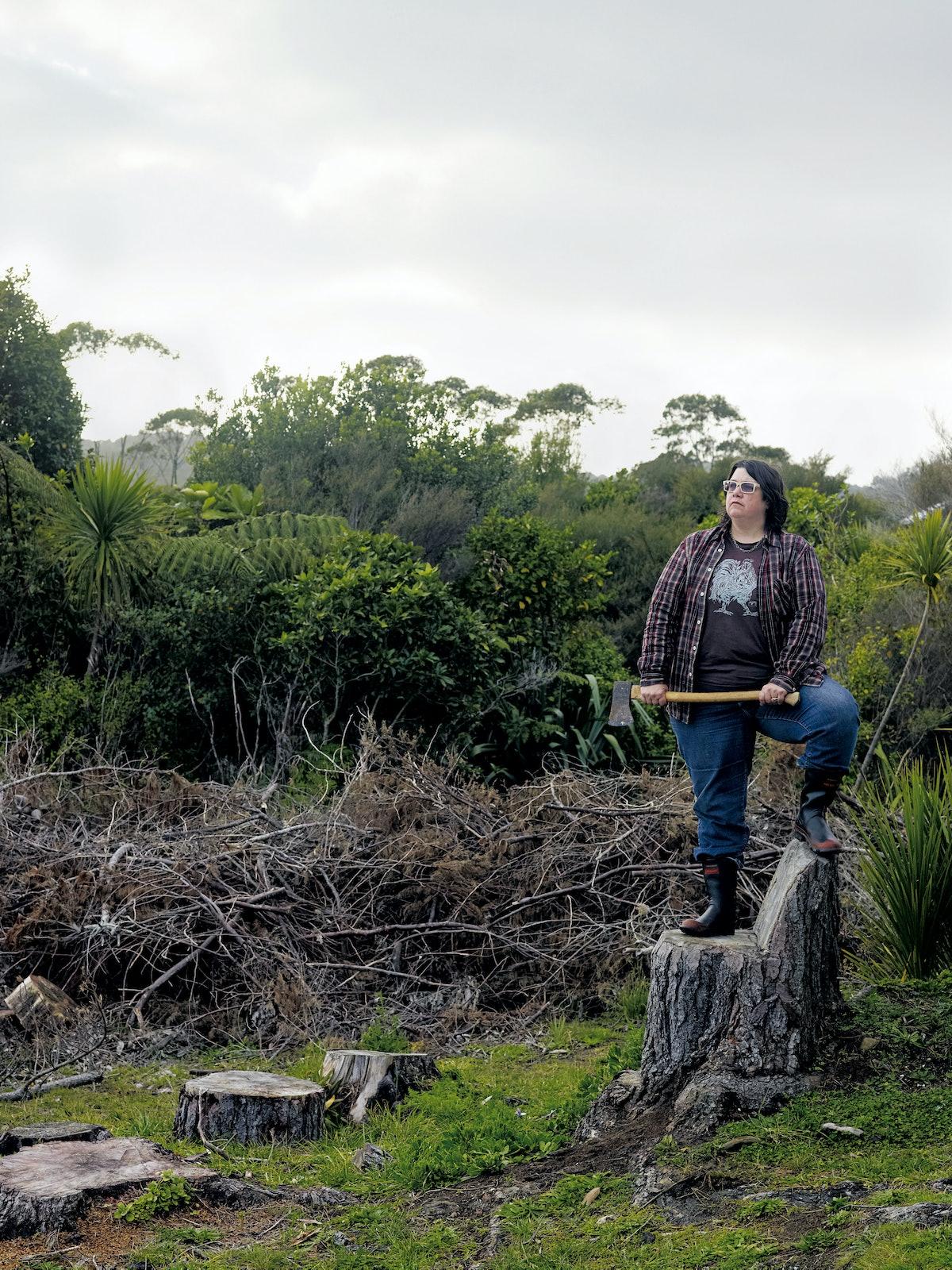 Self-Portrait/Chopping, 2011