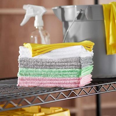 Amazon Basics Microfiber Cleaning Cloths (24-Pack)