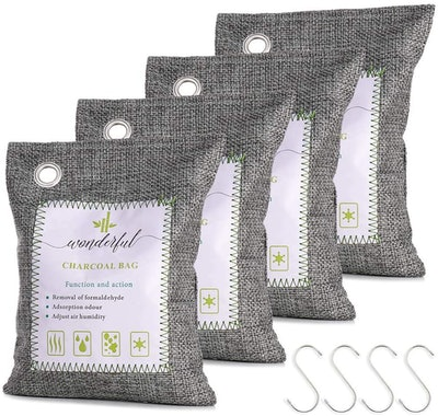 WONDERFUL Activated Bamboo Charcoal Air Purifying Bags (4 Pack)