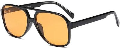 Freckles Mark Retro Aviator Sunglasses