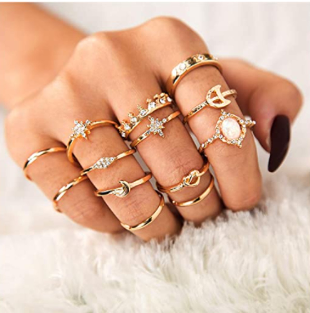 Sither Vintage Rings Set (13 Pieces)