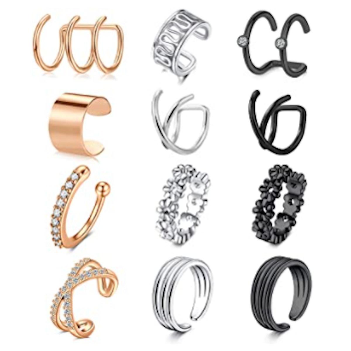 LAURITAMI Clip-On Earrings Set