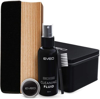 EVEO 4-in-1 Vinyl Record Cleaner Kit