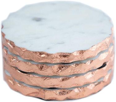 P & E Marble Coasters (Set of 4)
